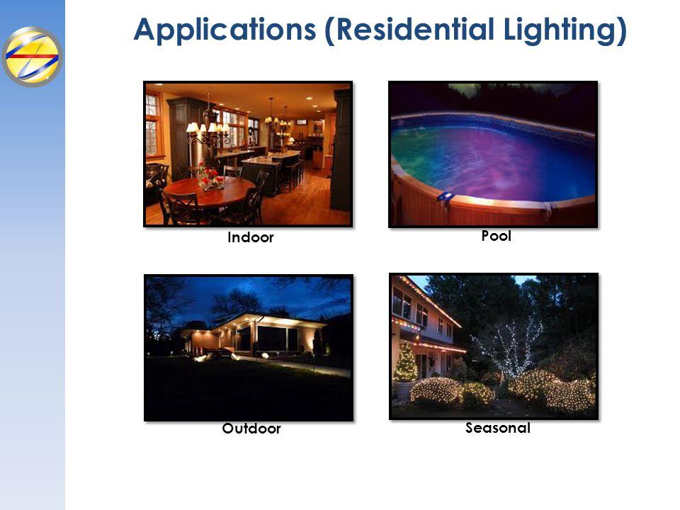Applications (Residential Lighting) Indoor Outdoor Pool Seasonal