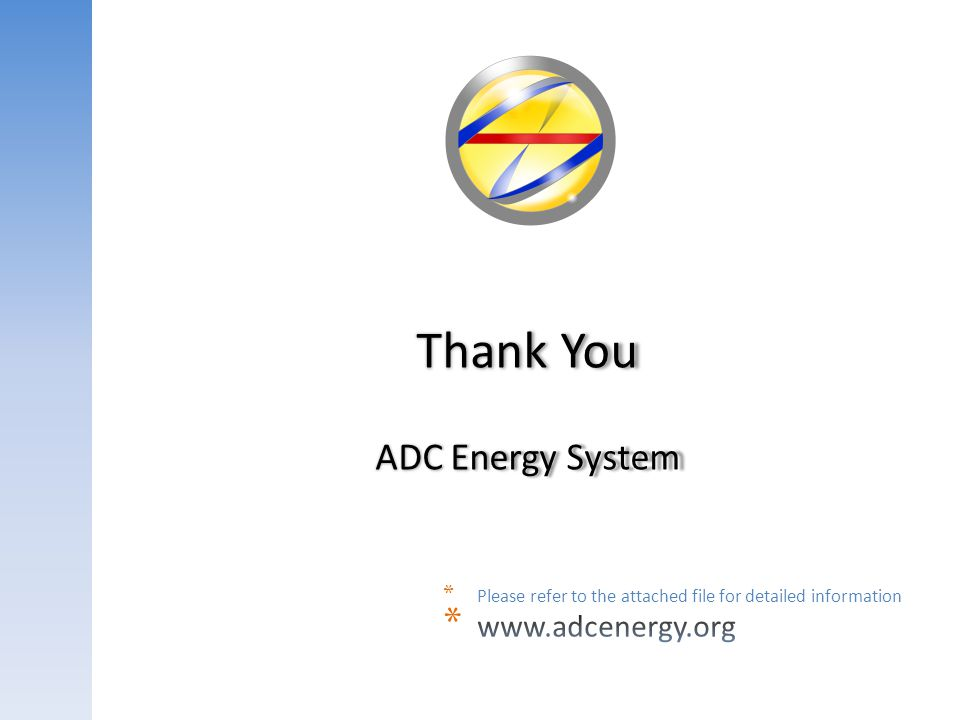Thank You ADC Energy System