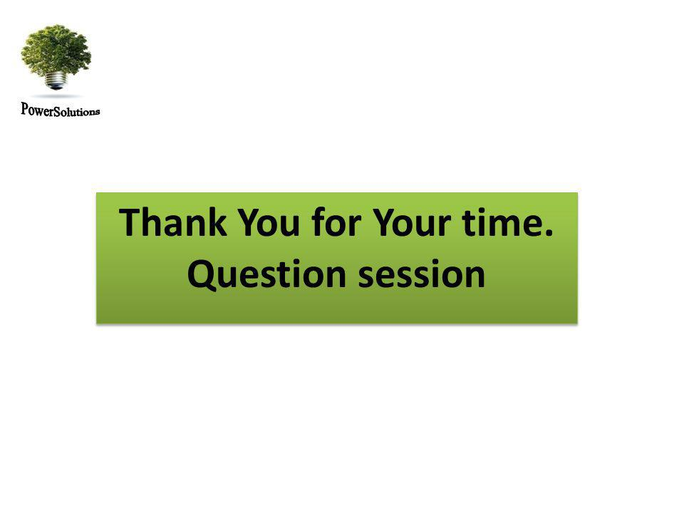 Thank You for Your time. Question session Thank You for Your time. Question session