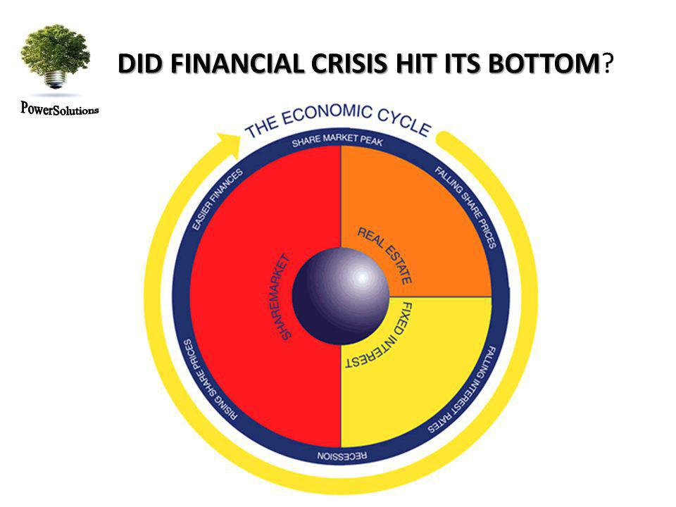 DID FINANCIAL CRISIS HIT ITS BOTTOM DID FINANCIAL CRISIS HIT ITS BOTTOM Saivings