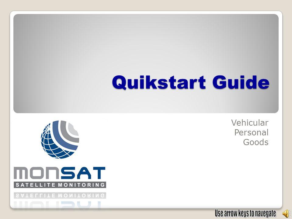 Quikstart Guide Vehicular Personal Goods
