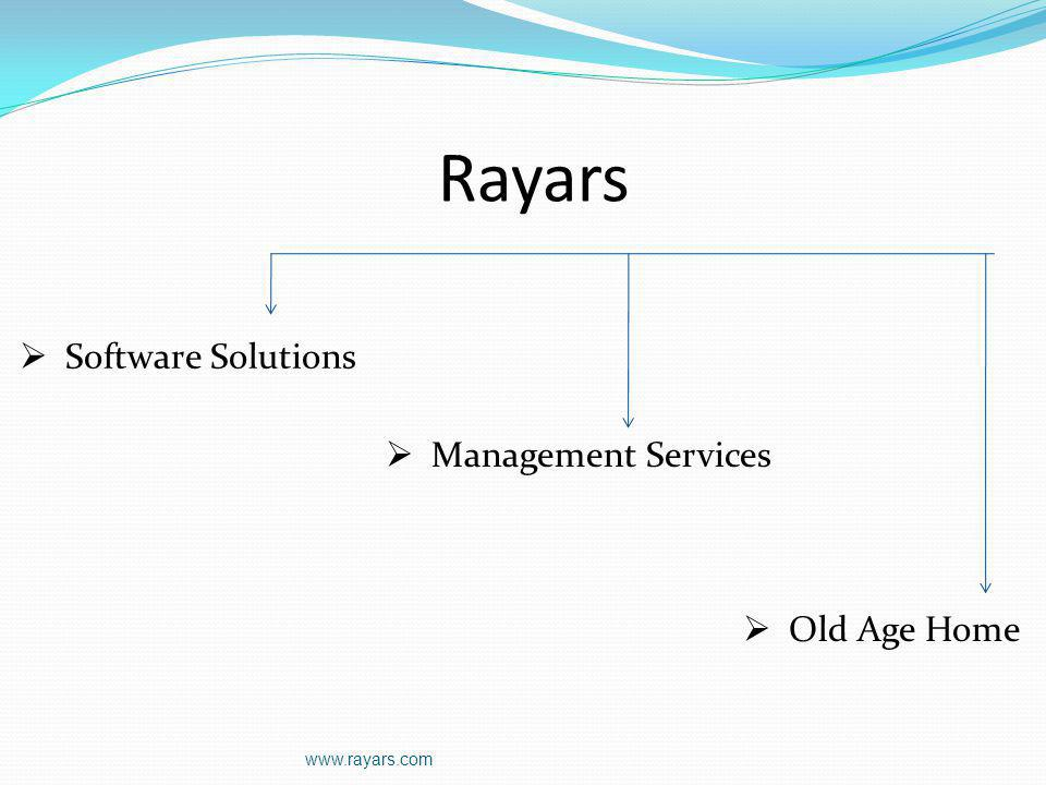 Rayars Old Age Home Management Services Software Solutions www.rayars.com