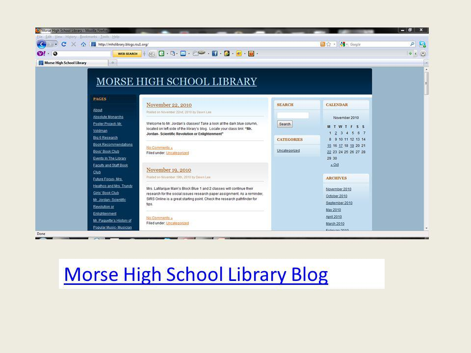 Morse High School Library Blog
