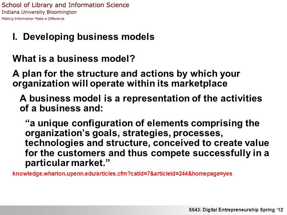 S643: Digital Entrepreneurship Spring 12 II.