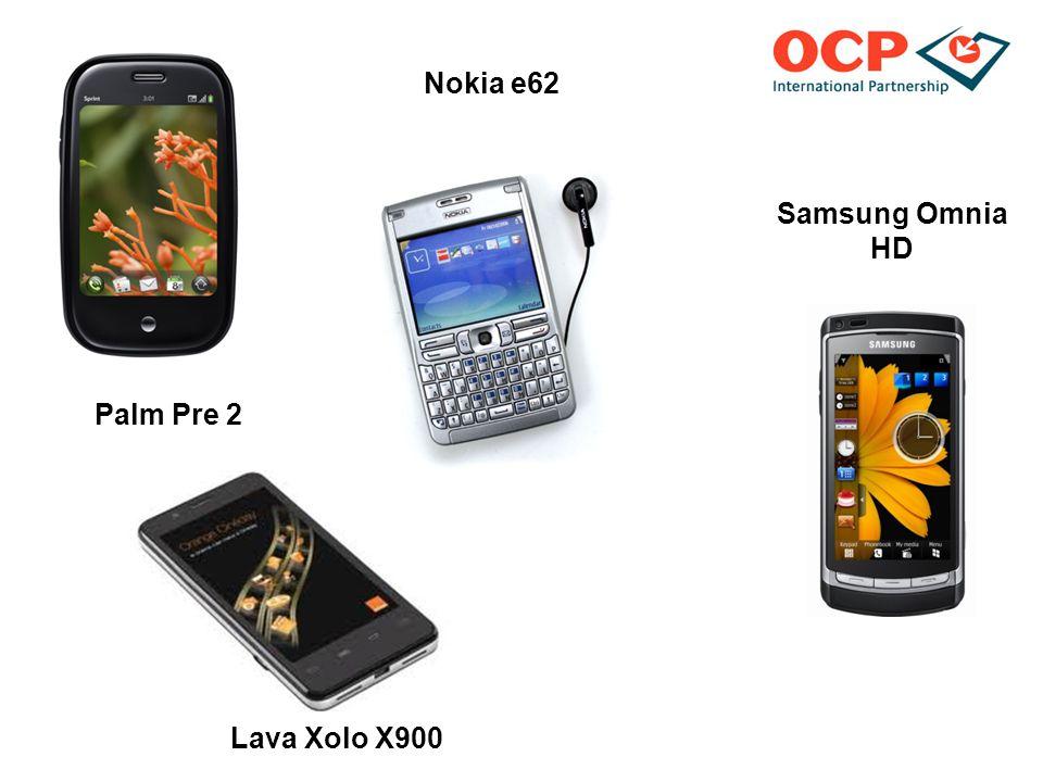 Palm Pre 2 Nokia e62 Samsung Omnia HD Lava Xolo X900