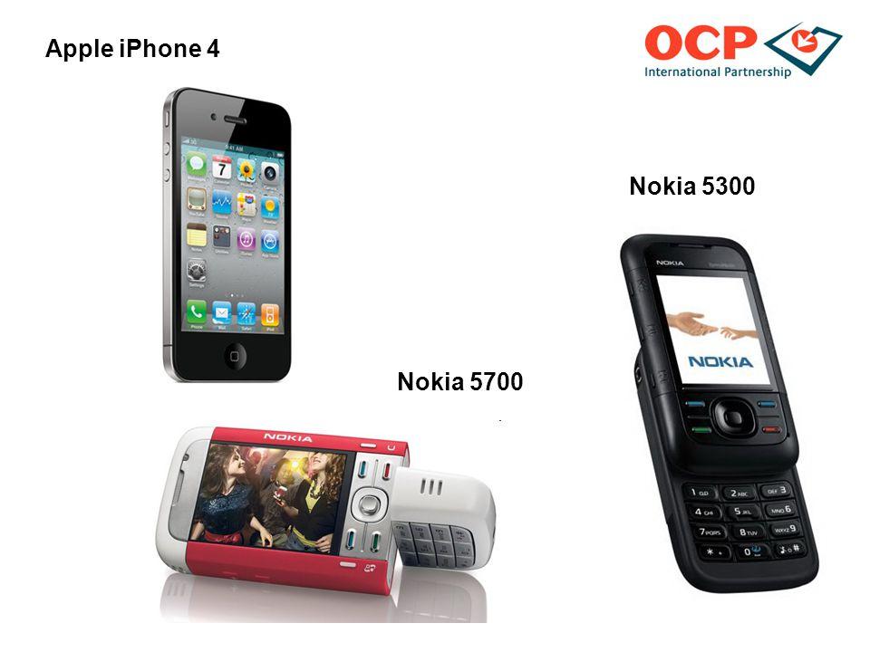 Nokia 5300 Apple iPhone 4 Nokia 5700