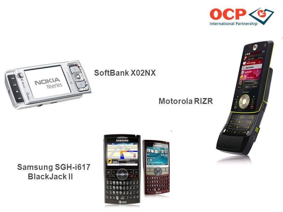 SoftBank X02NX Motorola RIZR Z8 Samsung SGH-i617 BlackJack II