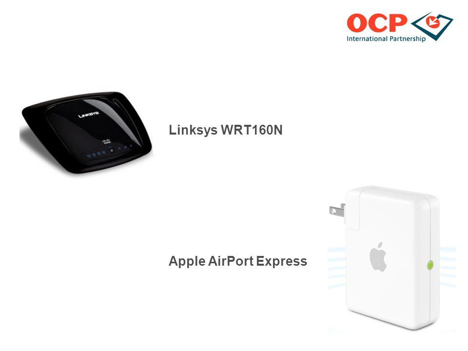 Linksys WRT160N Apple AirPort Express