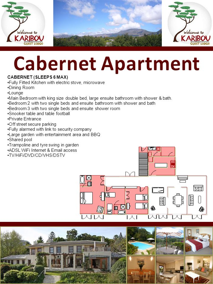CABERNET (SLEEPS 6 MAX) Fully Fitted Kitchen with electric stove, microwave Dining Room Lounge Main Bedroom with king size double bed, large ensuite b