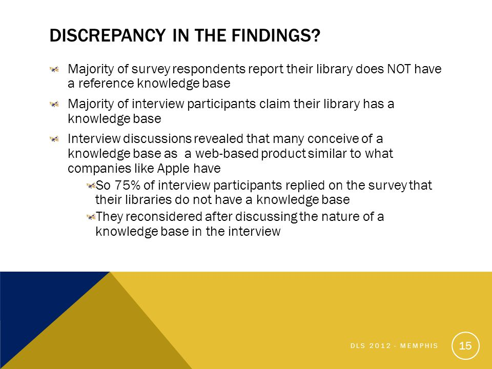 DISCREPANCY IN THE FINDINGS.