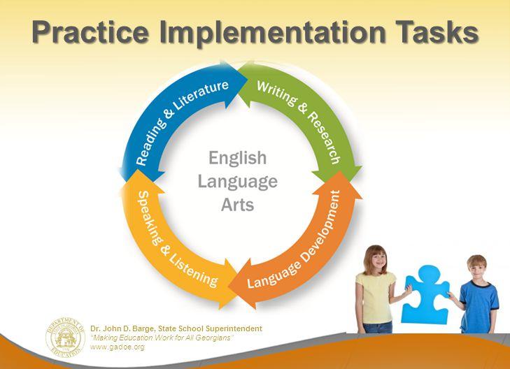 Dr. John D. Barge, State School Superintendent Making Education Work for All Georgians www.gadoe.org Practice Implementation Tasks