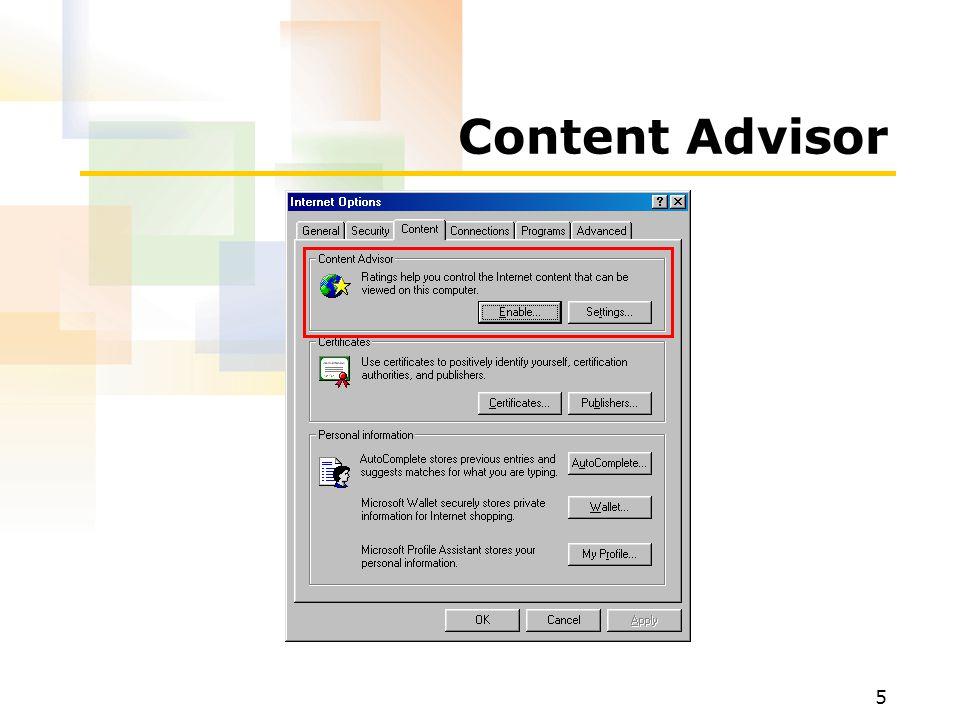 5 Content Advisor