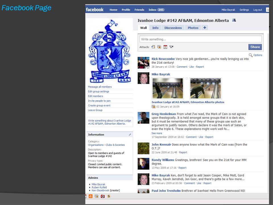 Facebook Page e-Masonry by WBro. M. Bayrak11
