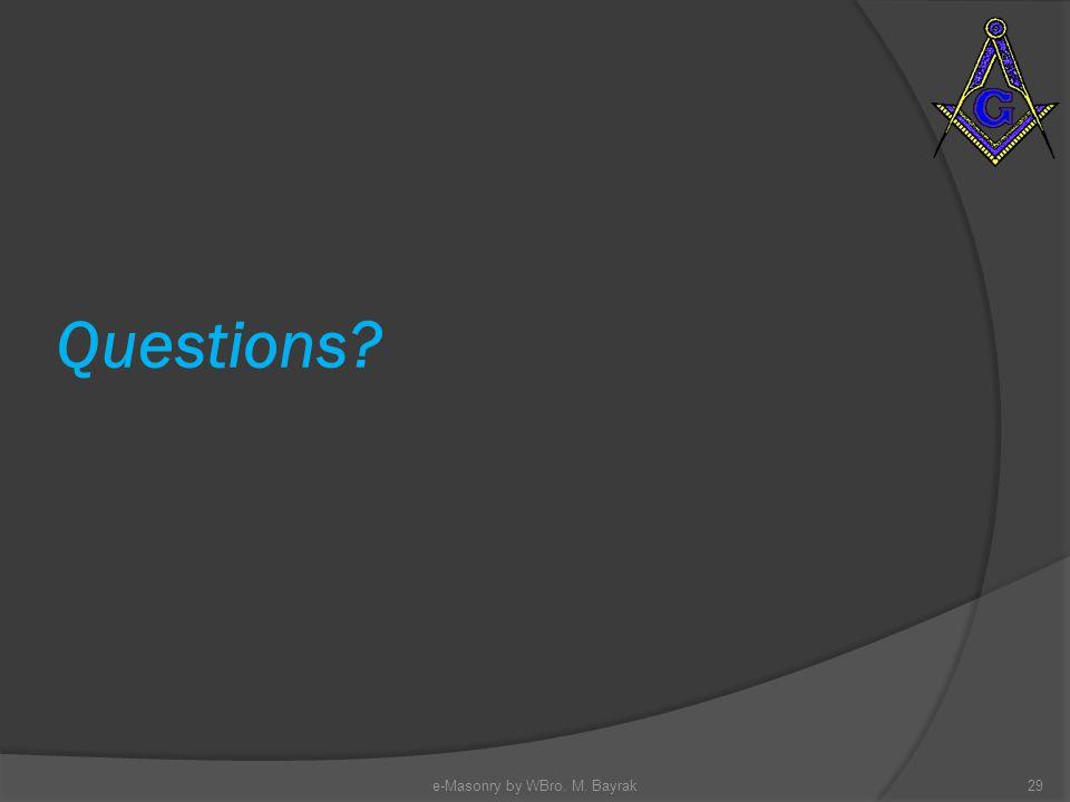 Questions e-Masonry by WBro. M. Bayrak29