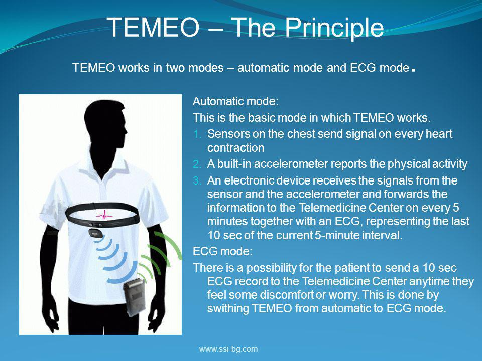 TEMEO – The Principle TEMEO works in two modes – automatic mode and ECG mode.