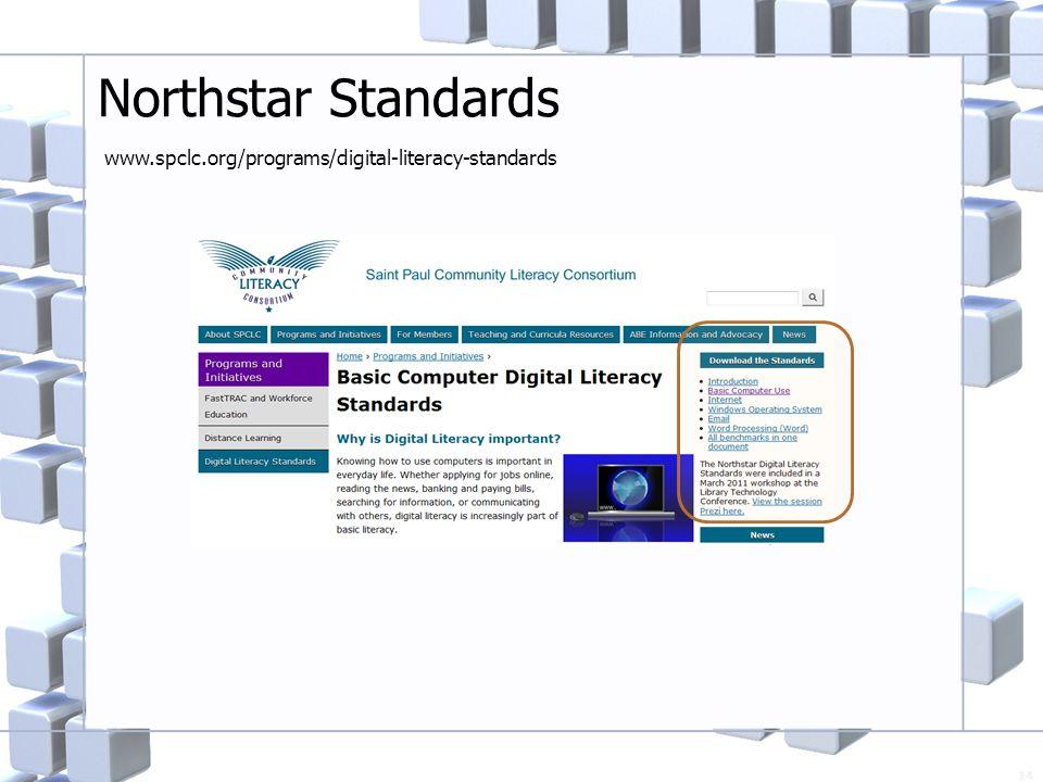 Northstar Standards 14 www.spclc.org/programs/digital-literacy-standards