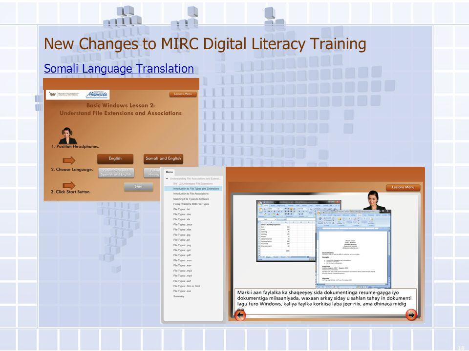 New Changes to MIRC Digital Literacy Training Somali Language Translation 18