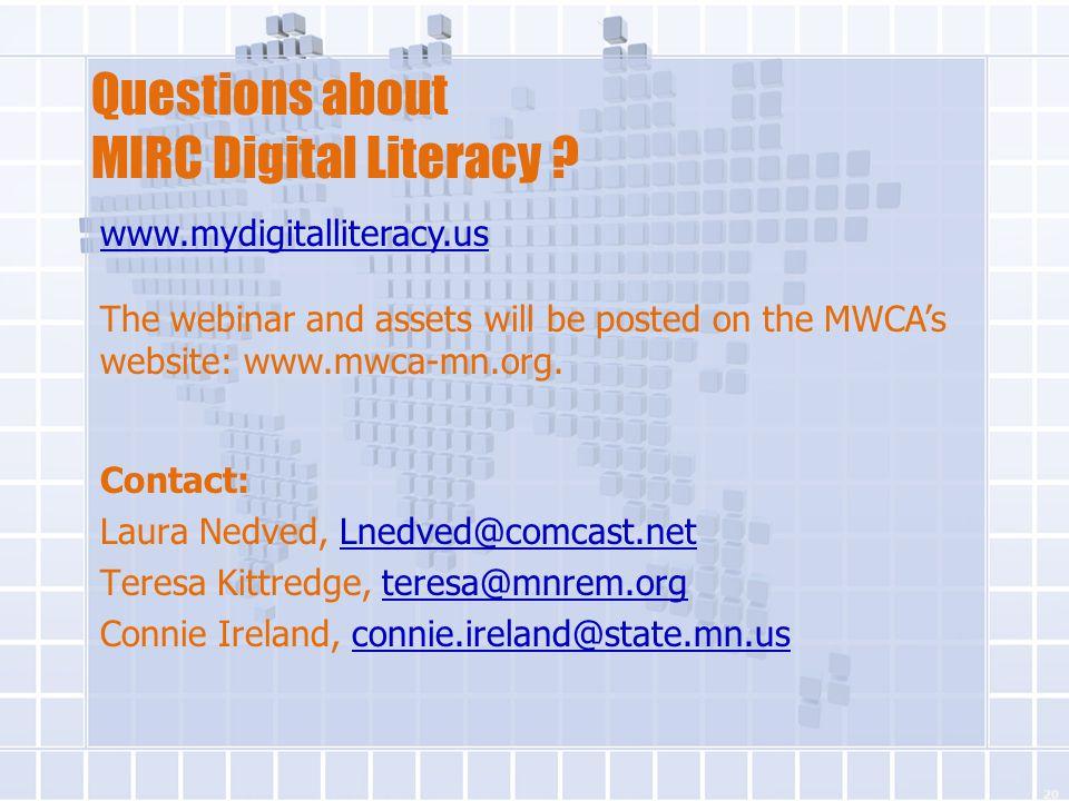 Contact: Laura Nedved, Lnedved@comcast.netLnedved@comcast.net Teresa Kittredge, teresa@mnrem.orgteresa@mnrem.org Connie Ireland, connie.ireland@state.