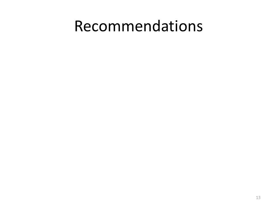 Recommendations 13