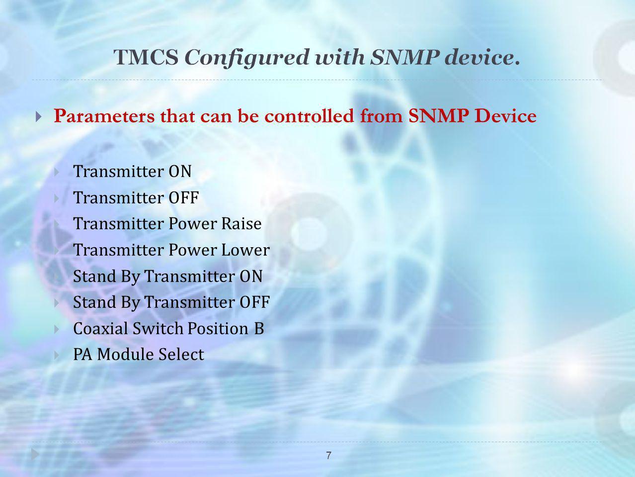 28 TMCS - Transmitter block diagram