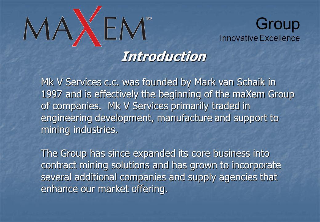 Introduction Mk V Services c.c.