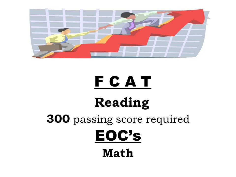 F C A T Reading 300 passing score required EOCs Math
