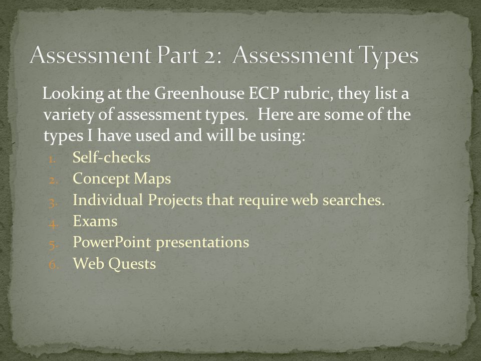 One of the most powerful attributes of online instruction is the variety of assessments that can be designed. Technology aids in the design of assessm