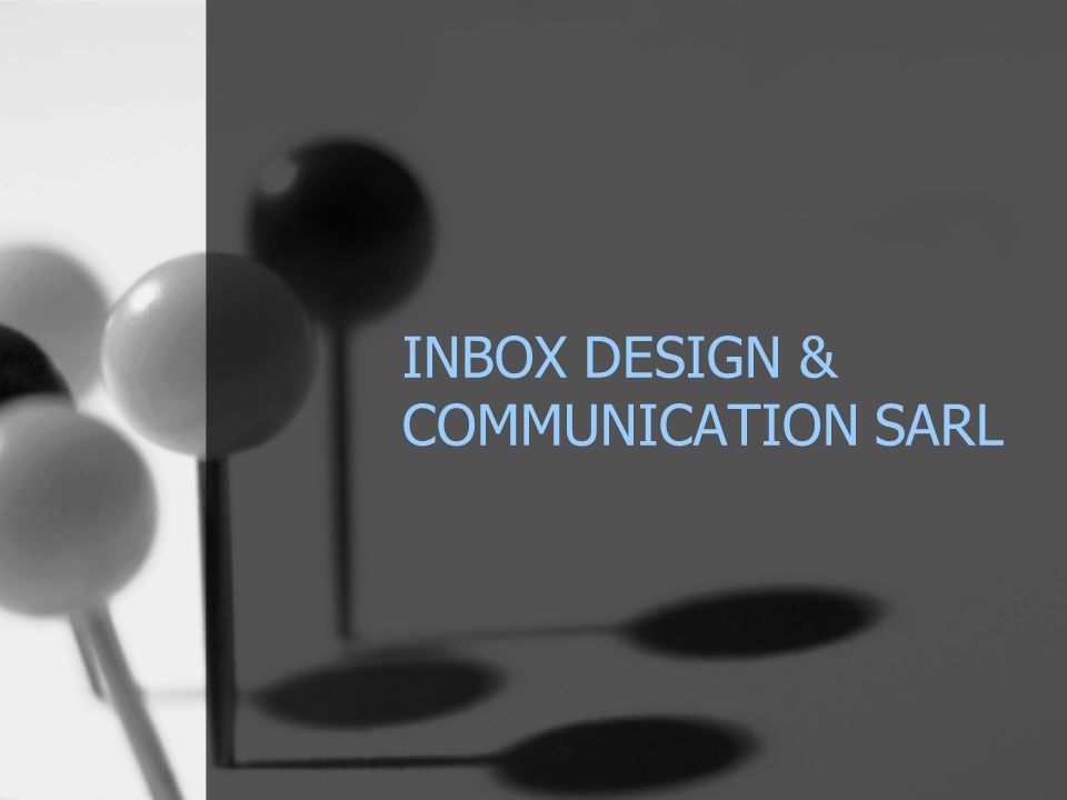 INBOX DESIGN & COMMUNICATION SARL