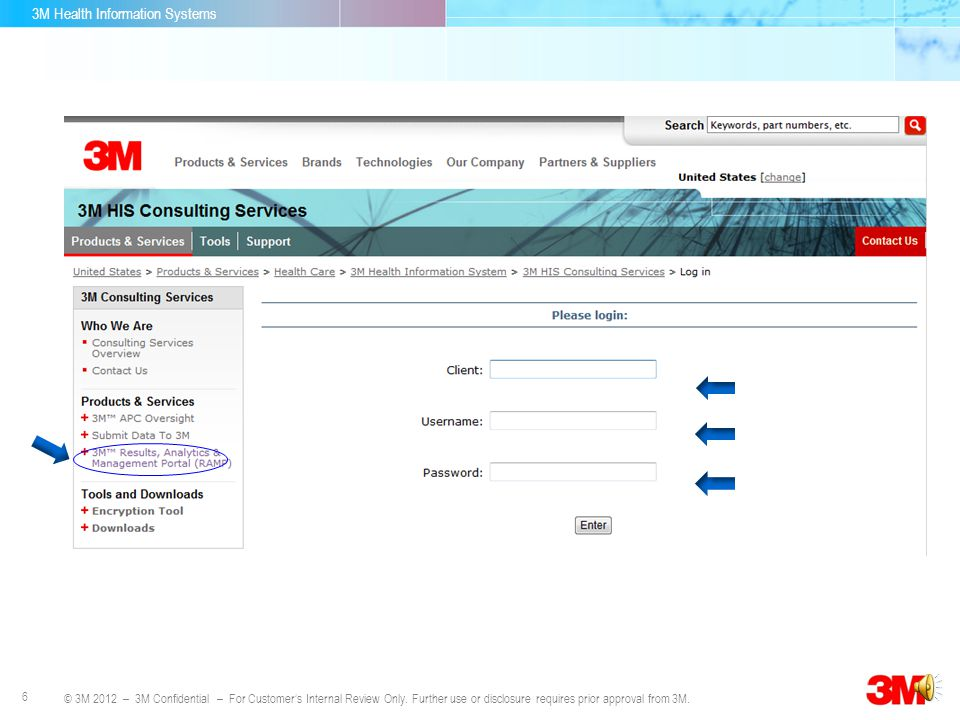 3M Health Information Systems 5 © 3M 2012 – 3M Confidential – For Customers Internal Review Only. Further use or disclosure requires prior approval fr