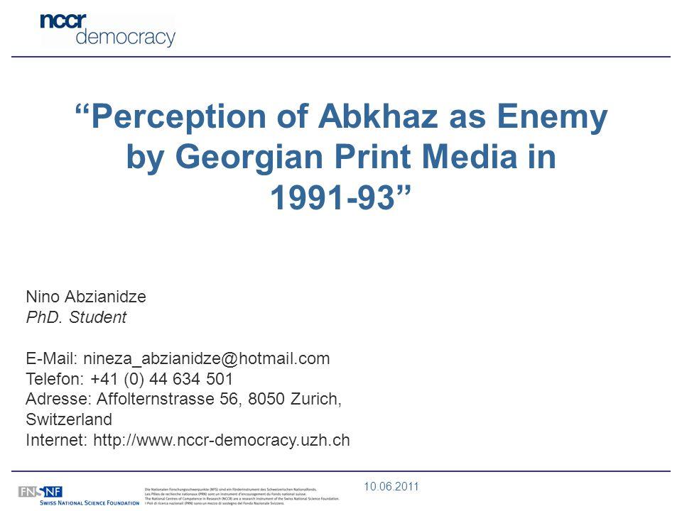 10.06.2011 Nino Abzianidze PhD.