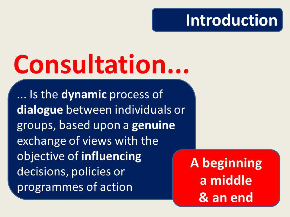 Meaningful Consultation Definition of Consultation Do we consult too much?