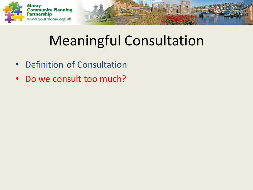 Have we gone consultation crazy?