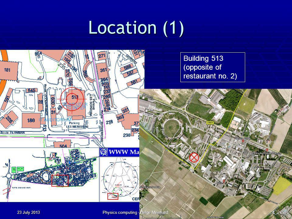 BACKUP SLIDES 23 July 2013Physics computing - Helge Meinhard55
