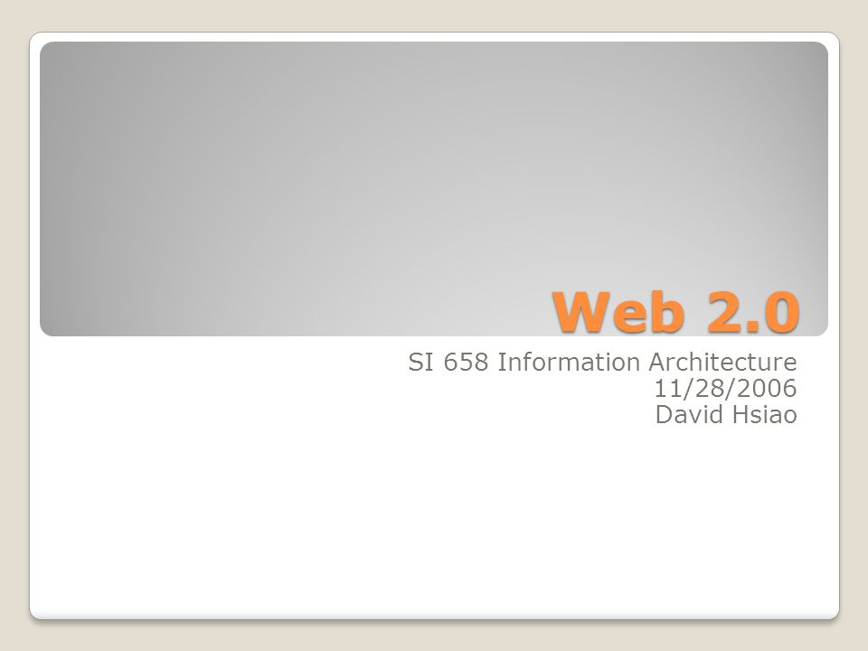 Web 2.0 Design Pattern 1.The Long Tail 2. Data is the Next Intel Inside 3.