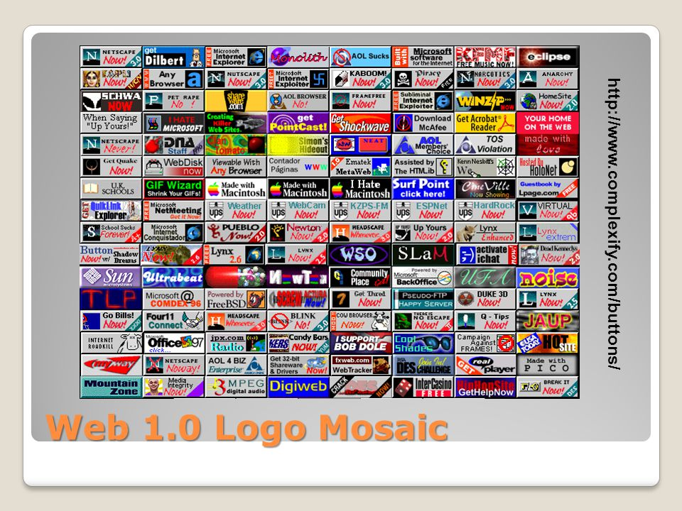 Web 1.0 Logo Mosaic http://www.complexify.com/buttons/
