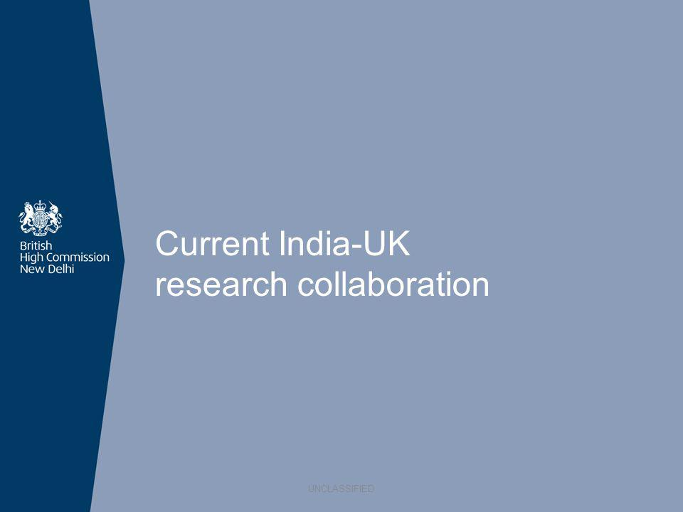 Current India-UK research collaboration UNCLASSIFIED