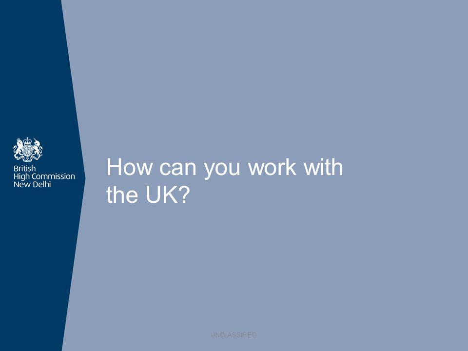 How can you work with the UK? UNCLASSIFIED