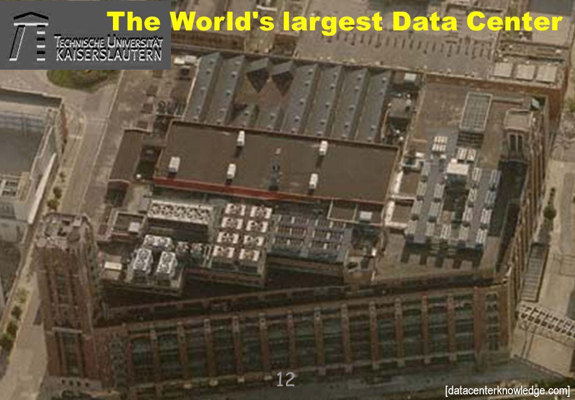 © 2010, reiner@hartenstein.de http://hartenstein.de TU Kaiserslautern 2011, 12 The World's largest Data Center [datacenterknowledge.com]