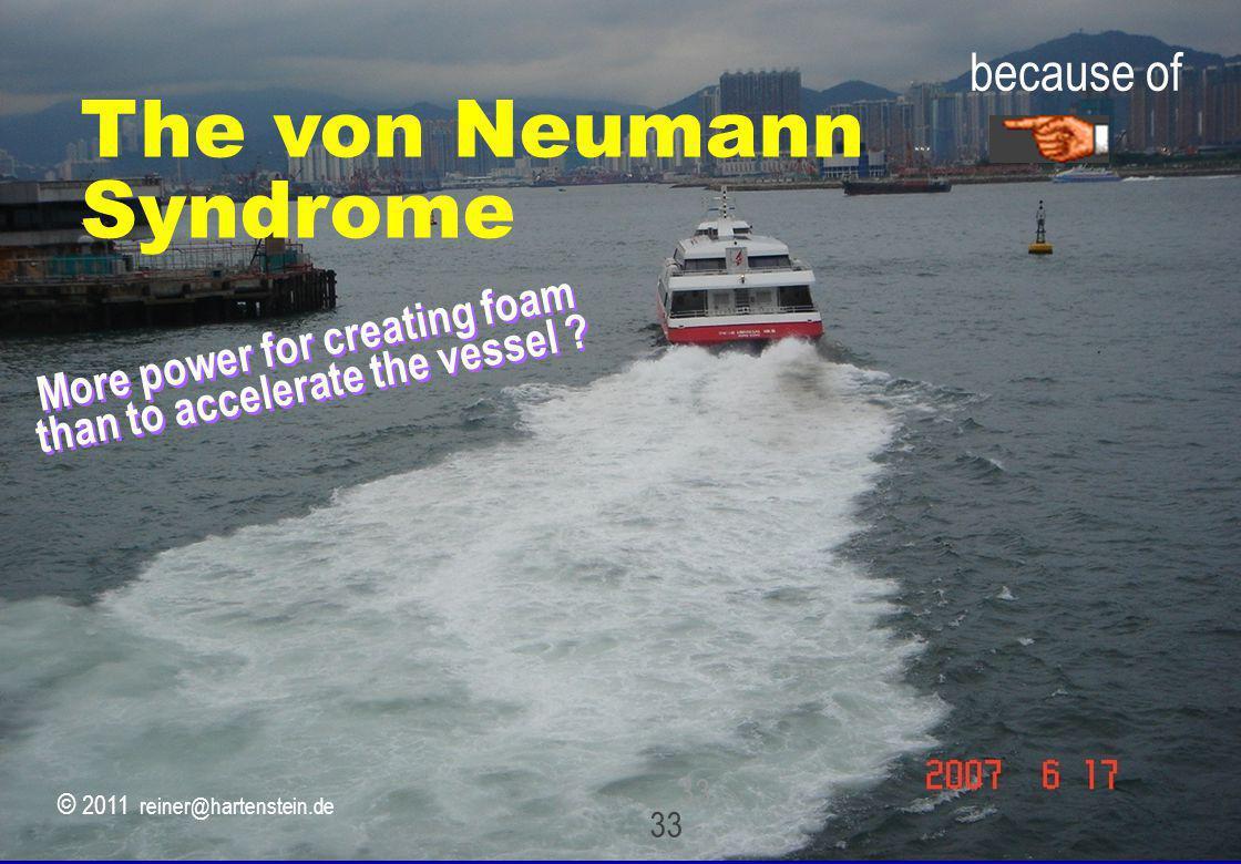 © 2010, reiner@hartenstein.de http://hartenstein.de TU Kaiserslautern 33 More power for creating foam than to accelerate the vessel ? 33 because of Th