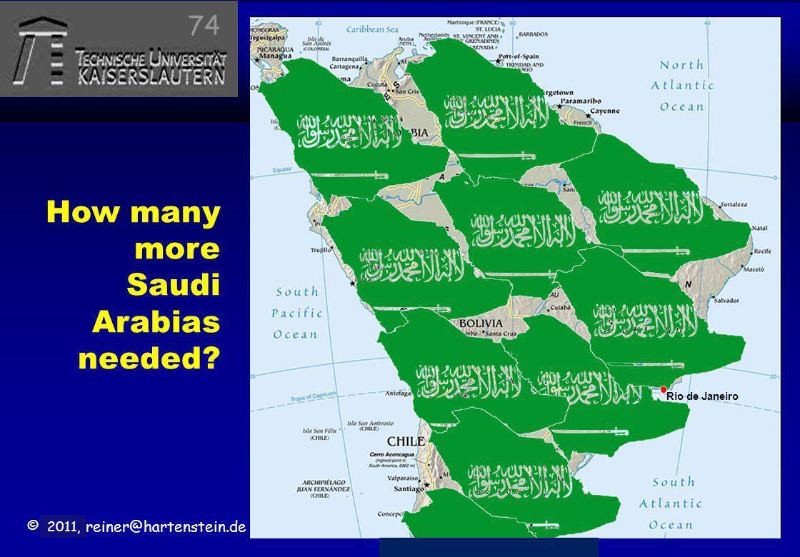 © 2010, reiner@hartenstein.de http://hartenstein.de TU Kaiserslautern 2011, How many more Saudi Arabias needed? Rio de Janeiro 74