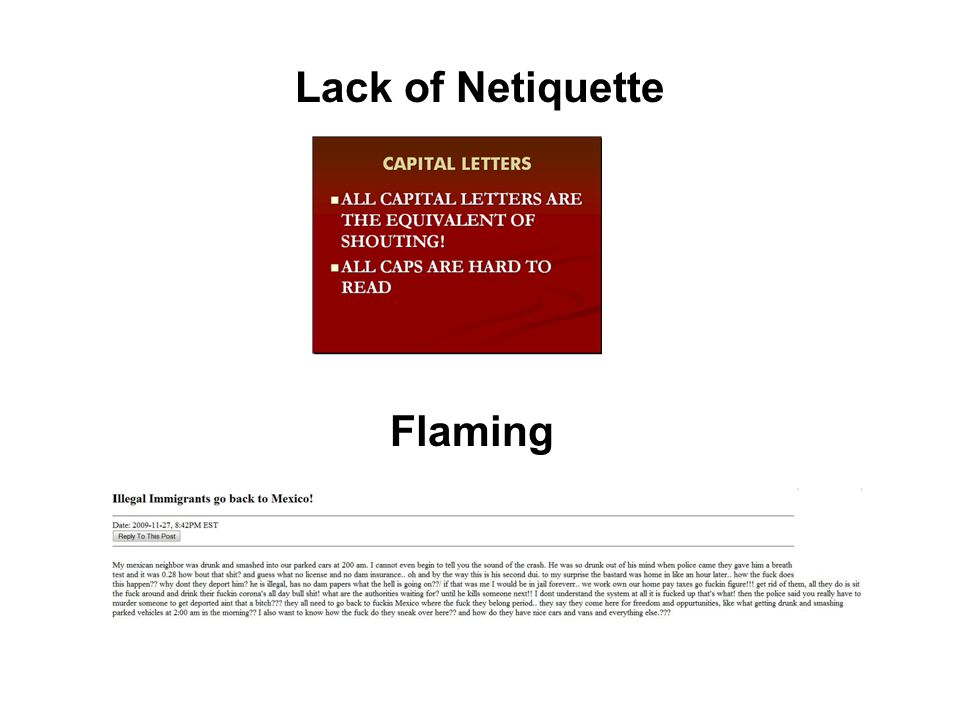 Lack of Netiquette Flaming