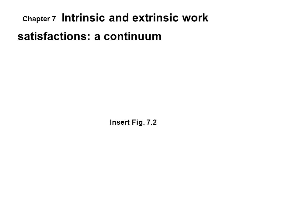 Intrinsic and extrinsic work satisfactions: a continuum Insert Fig. 7.2 Chapter 7