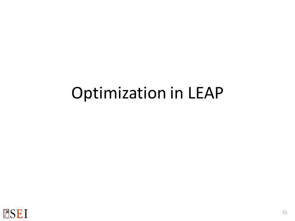 Optimization in LEAP 51