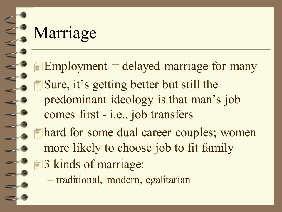 Effects of Work on Womans Personal Life 4 Marriage 4 Household Tasks 4 Children 4 Personal Adjustment
