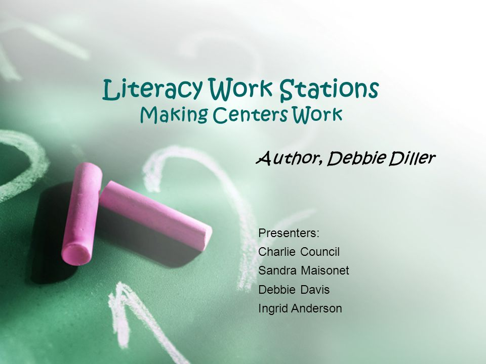 How Literacy Work Stations Assisted with Classroom Instruction The author states that if what youre doing in your class- room is working effectively for your students, dont change it just because of this book.