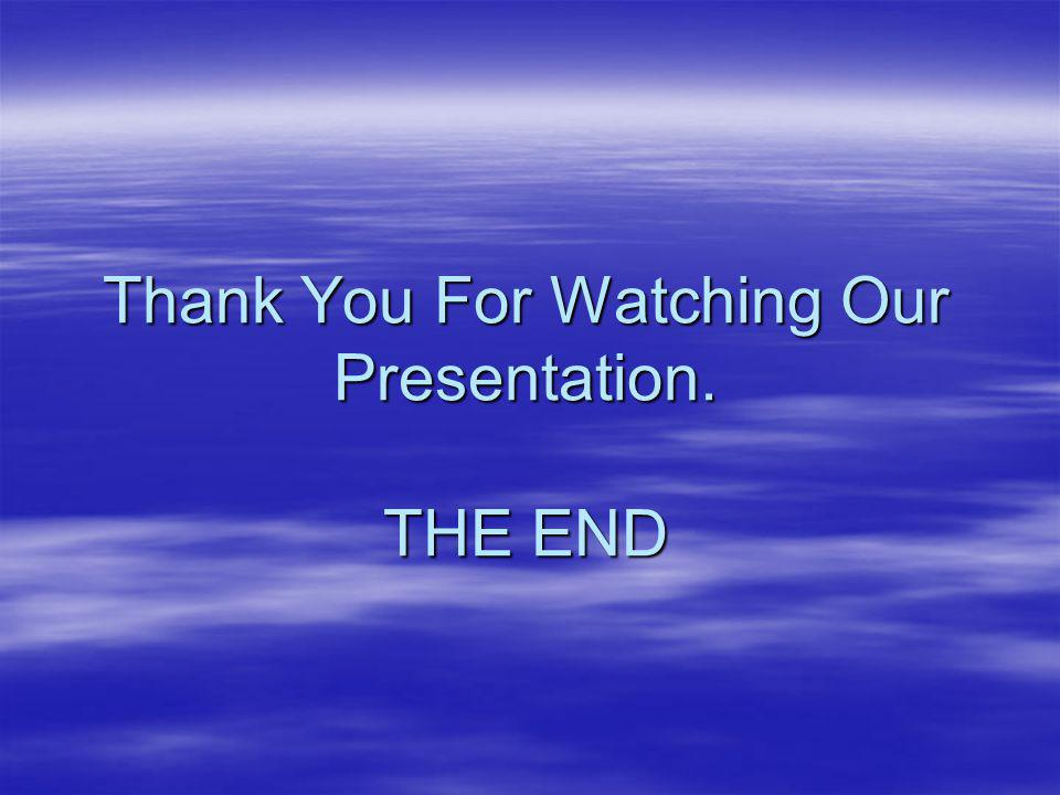 Thank You For Watching Our Presentation. THE END