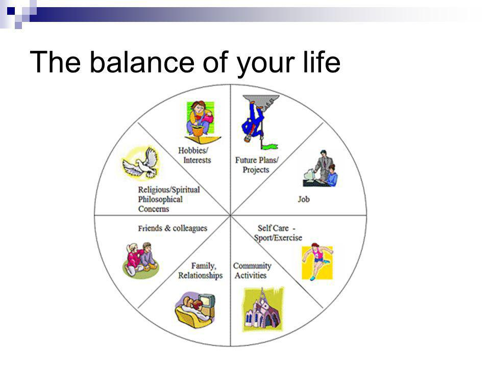 The balance of your life