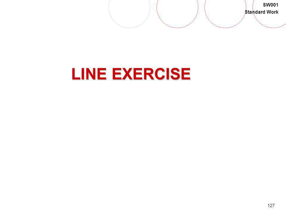 127 SW001 Standard Work LINE EXERCISE