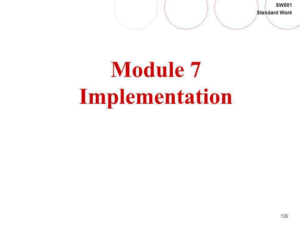 135 SW001 Standard Work Module 7 Implementation