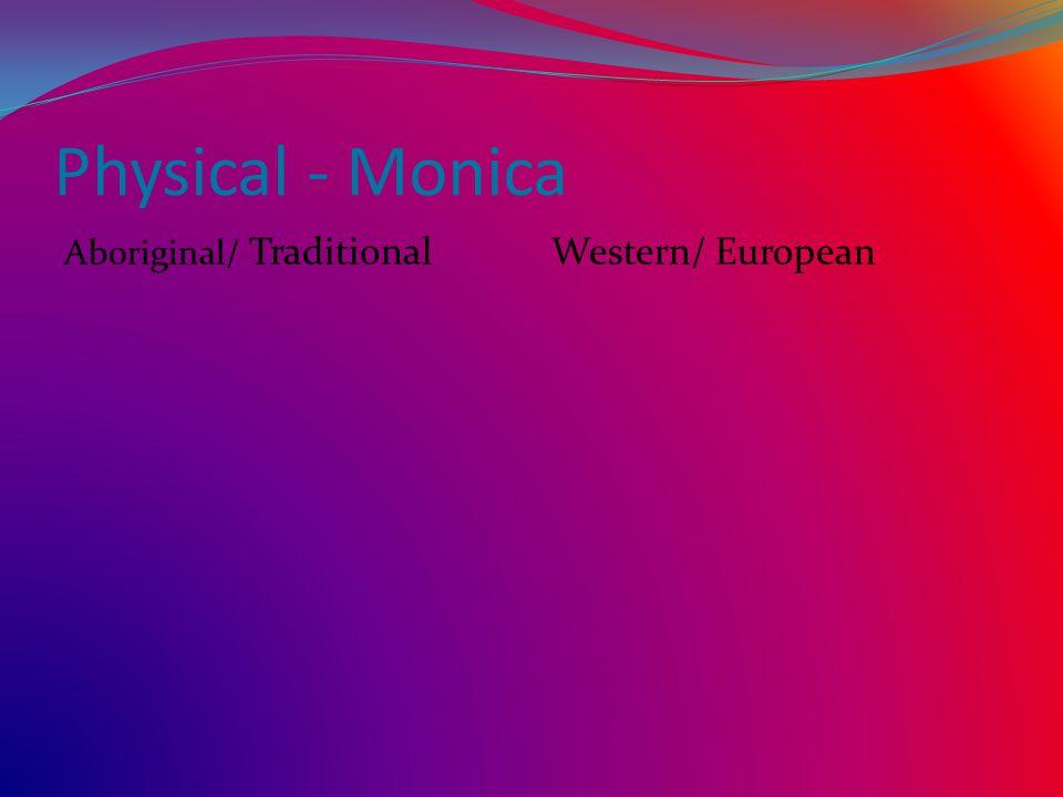 Physical - Monica Aboriginal/ TraditionalWestern/ European